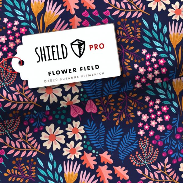 SHIELD Jersey, Blumen auf dunkelblau