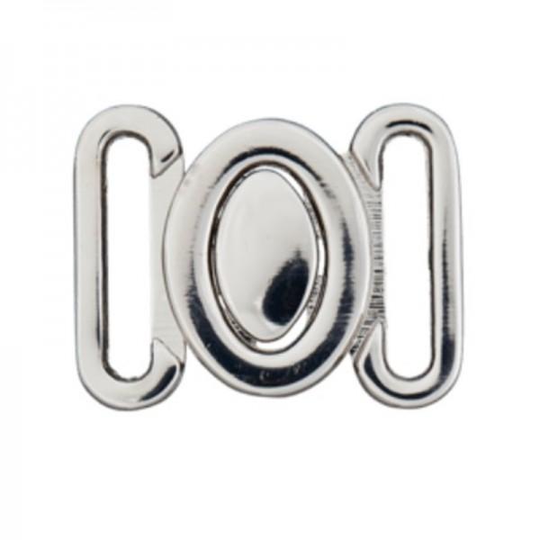 Bikiniverschluss, silber, oval