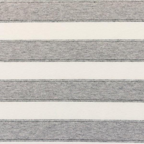 Streifen mit Punktlinien, hellgrau-meliert/offwhite, Jersey