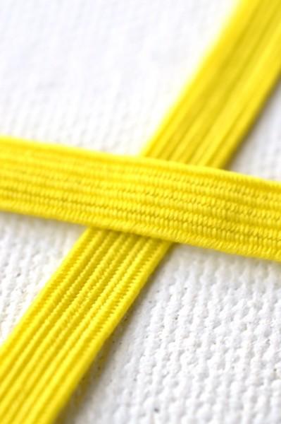 Flachgummi, gelb, 6,5 mm