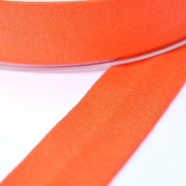 Baumwolljersey-Schrägband ohne Elasthan, orange