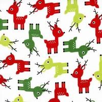 R. Kaufman, Jingle Deer white, Flanell