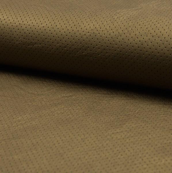 Lederimitat bronze mit gestanzten Punkten