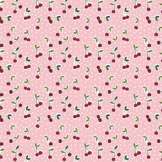 Alma, Laminat/Wachstuch, Kleine Kirschen rosa