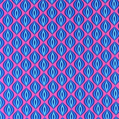 Birds of a Feather, Very Berry pink-blau, Popeline