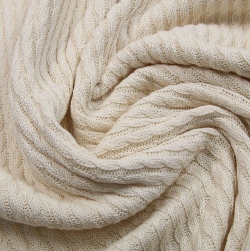 Pattern Love Knitty Plait Strickstoff offwhite