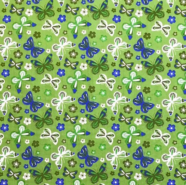 Butterfly&Flowers grün, Webstoff