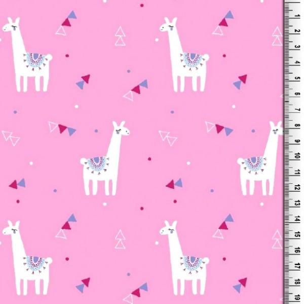 Gina Baumwollpopeline, Lamas pink