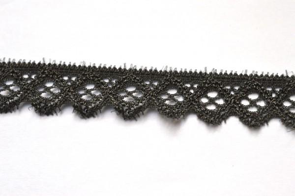 elastische Spitze mit Zacken, grau