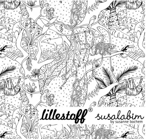 lillestoff, Dschungel Ausmalbild, Bio-Jersey