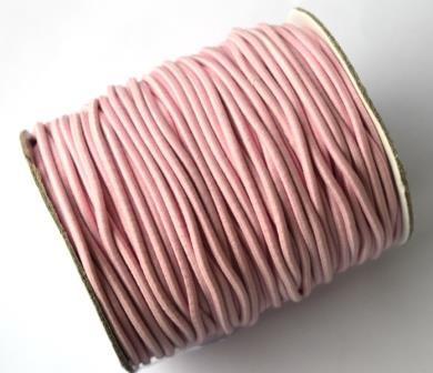 Gummischnur, 2 mm, rosa