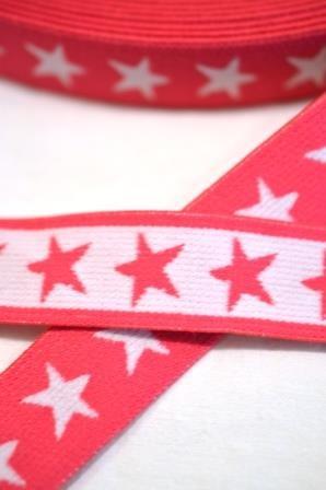 Gummiband Sterne, pink