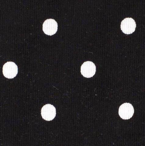 Leon, Punkte, weiß auf schwarz, Jersey