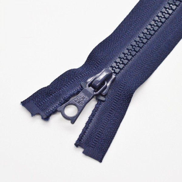 Reißverschluss, teilbar, dunkelblau