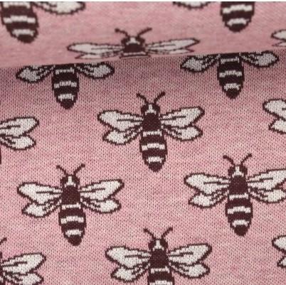 Pattern Love Bee rosa, Strickstoff