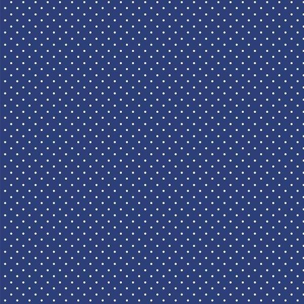 Lili Punkte klein dunkles royalblau, Webstoff, waschbar bei 60°