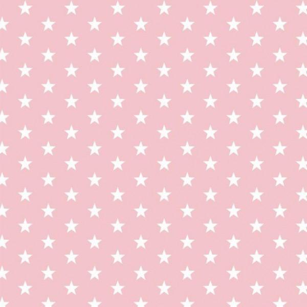 Lili Small Star weiß auf rosa, Webstoff
