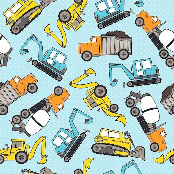 Flanell Diggers and Trucks hellblau
