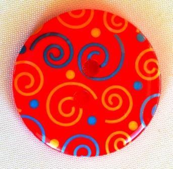 Swirl, rot, Knopf