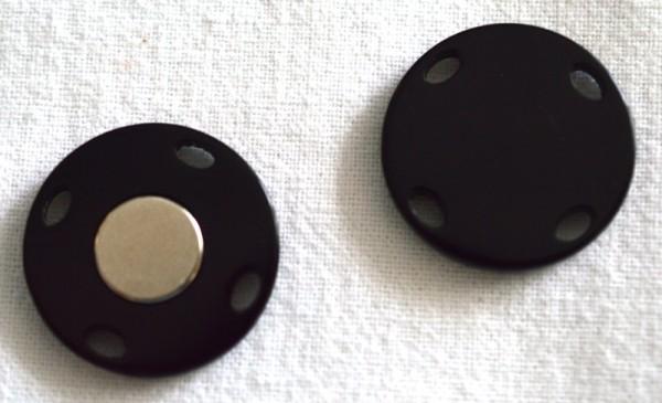 Magnet Annähknopf, schwarz