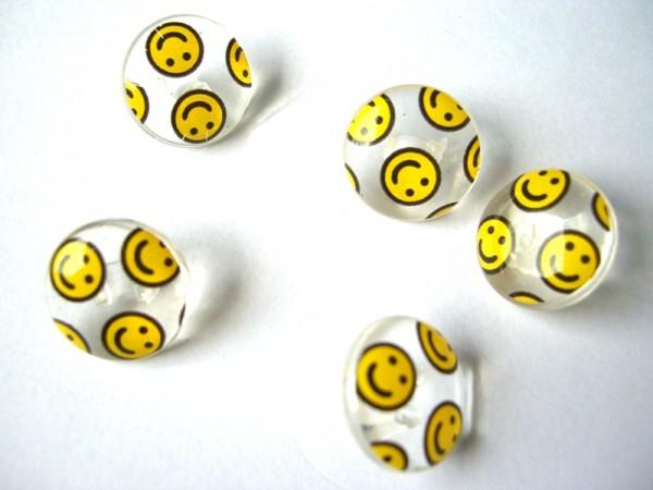 Smiley, durchsichtig, Knopf