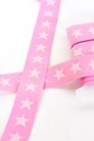 Gummiband breit, Sterne rosa