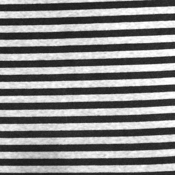 Nicky Streifen breit, hellgrau/dunkelgrau meliert