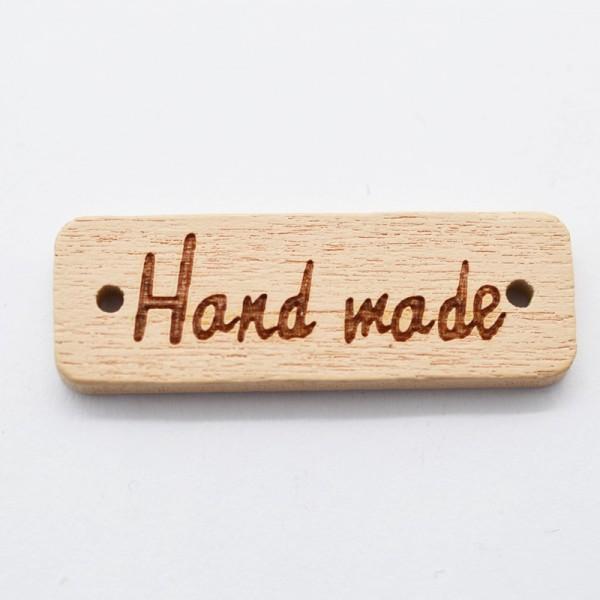 Label aus Holz, handmade, rechteckig, hellbraun