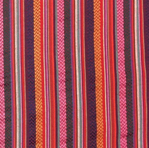 Inka gestreift mit rot-pink, Dekostoff, *Letztes Stück ca. 160 cm*