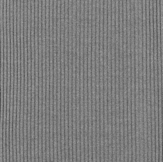 XL Ripp-Jersey, mittelgrau-meliert