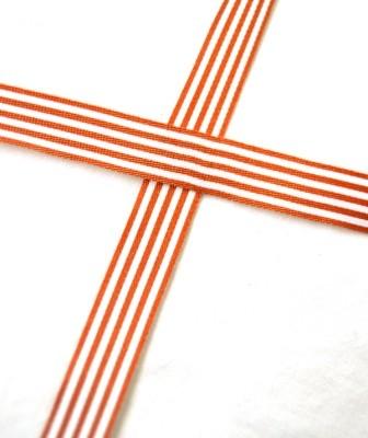 Stoffband, mittelbraun gestreift, 10 mm