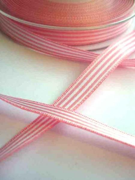 Stoffband, rosa gestreift, 10 mm