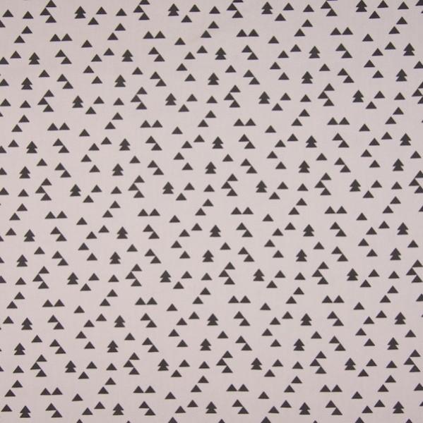 Les Triangles taupe, Webstoff, *Letztes Stück ca. 80 cm*