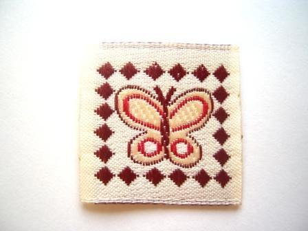 Schmetterling mit Rahmen, Webetikett *SALE*