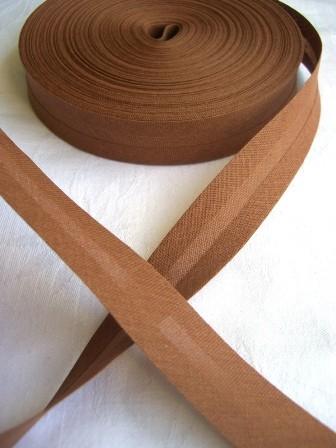 Package Schrägband, 20 mm, mittelbraun - 10 Meter