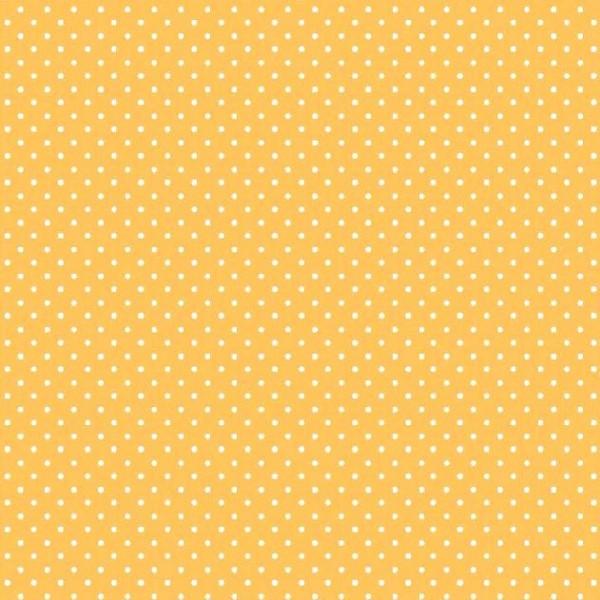 Lili Punkte klein, dunkelgelb, Webstoff, waschbar bei 60°