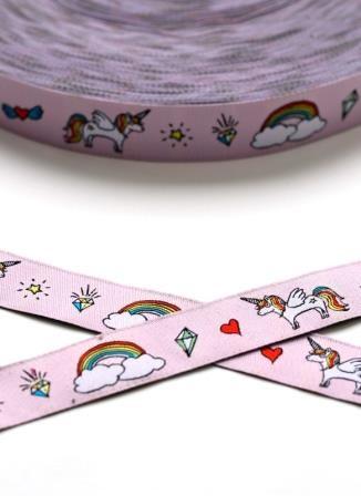 Unicorn, rosa, Webband