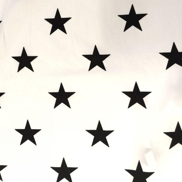 Charlie Sterne schwarz auf weiß, Popeline, *SALE*