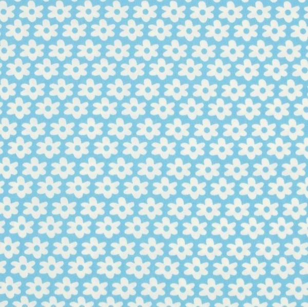 Miri Blümchen, hellblau, Webstoff