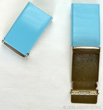 Gürtelschnalle, 2,5 cm, hellblau