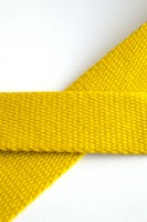 Baumwollgurtband, gelb, 3 cm