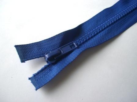 Reißverschluss, teilbar, royalblau