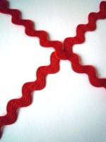 Zackenlitze 8 mm, rot
