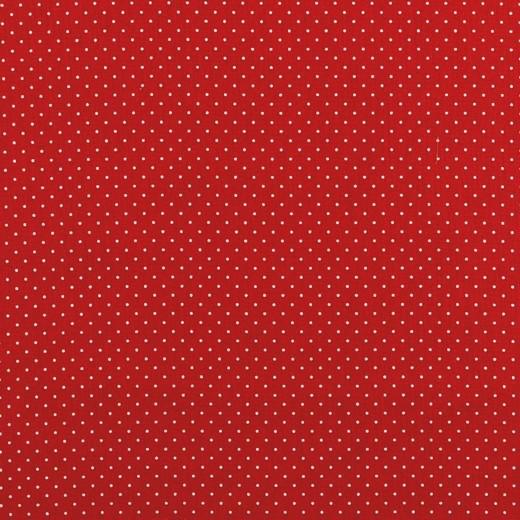 Alma, Laminat/Wachstuch, Punktchen auf rot