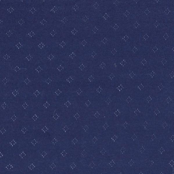 Pointelle-Jersey mit Lochmuster dunkelblau