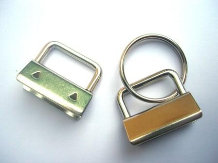 Clip für Schlüsselband - midi, silber 25 mm