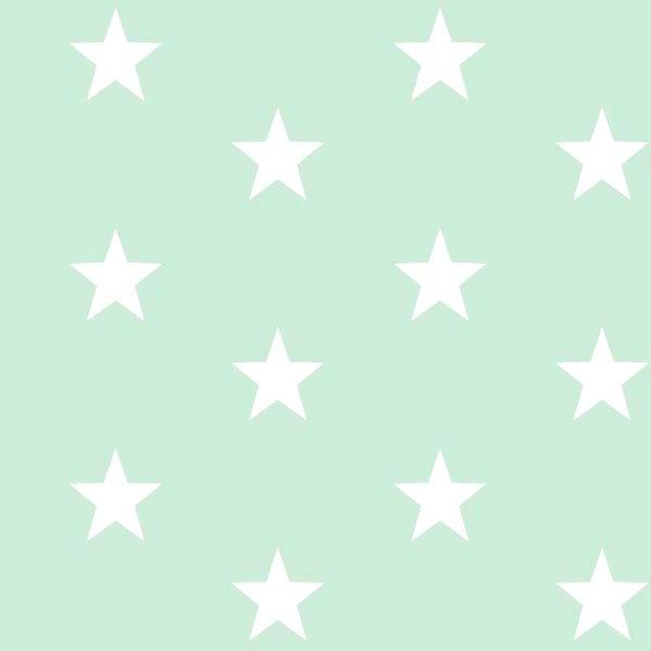 Lili Big Star weiß auf hellem mint, Webstoff, waschbar bei 60°