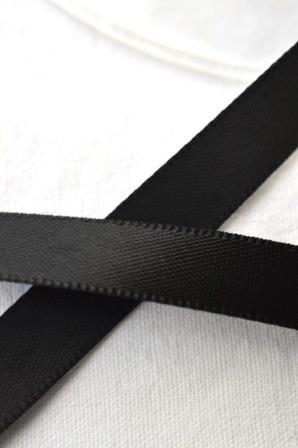 Satinband, schwarz