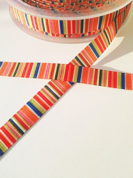 Multicolor, rot-orange, Ripsband