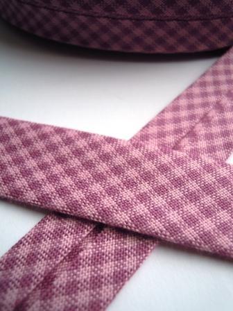 Westfalen Schrägband, karo violett-rosa